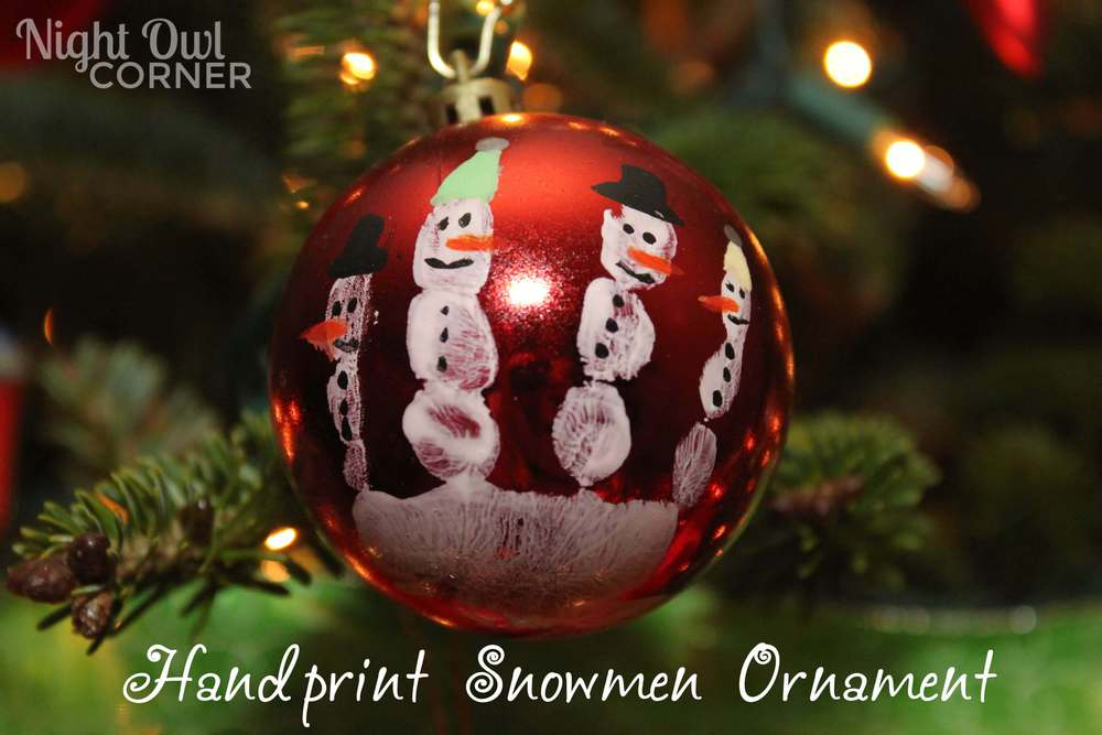 fingerprint snowmen ornaments 20 ornament ideas link features i nap time 2019