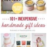 101+ inexpensive handmade Christmas gifts on iheartnaptime.com