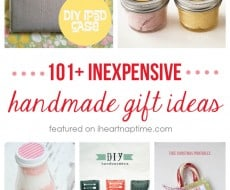 101+ inexpensive handmade Christmas gifts on iheartnaptime.com