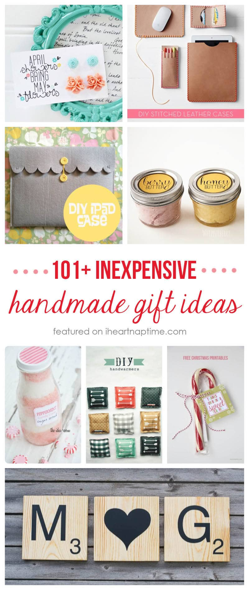 Exceptional Easy Craft Ideas For Christmas Gifts Part - 14: 101+ Inexpensive Handmade Christmas Gifts On Iheartnaptime.com