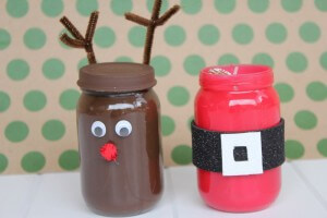 reindeer and santa craft idea