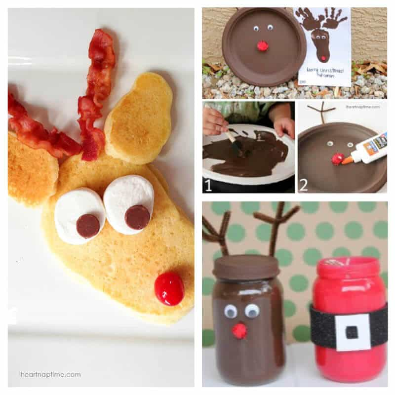 Rudolph pancakes and craft ideas