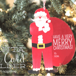 santa gift card holder at iheartnaptime