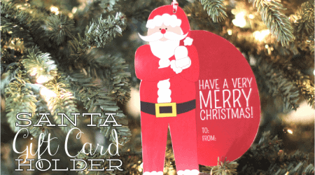 Free Santa Money or Gift Card Holder {free printable}