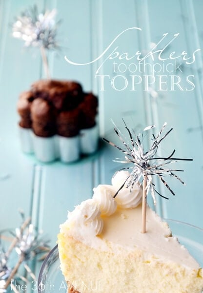sparkler toothpick toppers