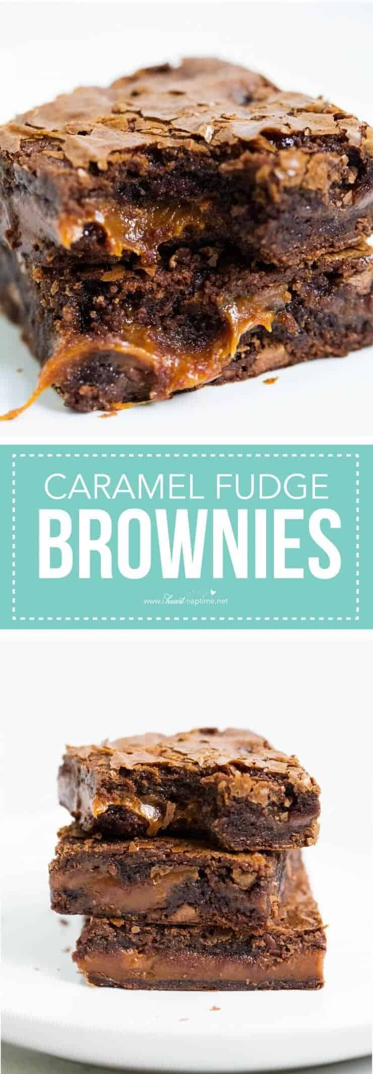 Chocolate fudge caramel brownies that are easy to make, rich, chewy and simply amazing. You are going to love these!