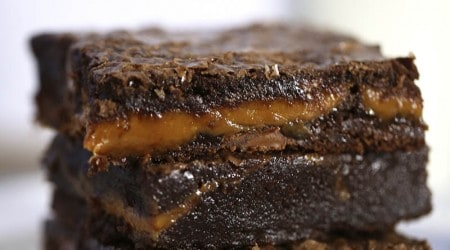 Caramel brownies on I Heart Nap Time