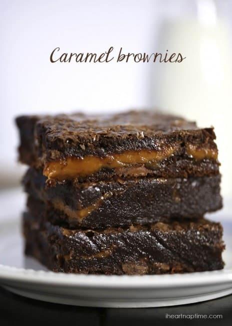 Caramel brownies on I Heart Nap Time