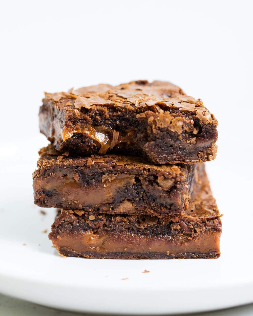 Chocolate Fudge Caramel Brownies I Heart Naptime