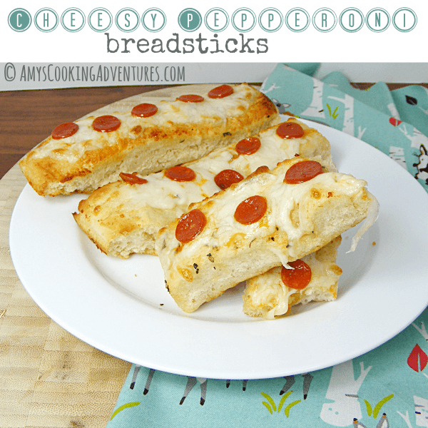 Cheesy Pepperoni Breadsticks