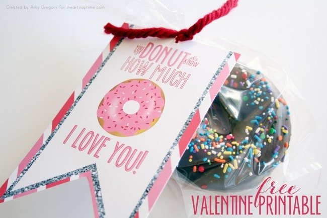 Donut Valentine Free Printable