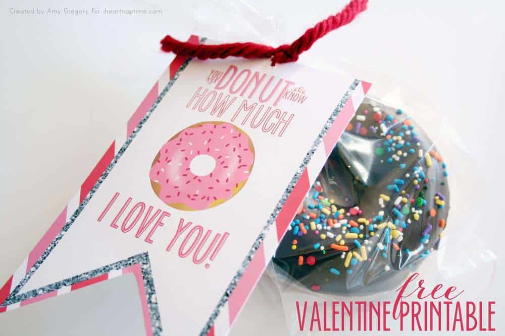 donut valentine free printable i heart nap time