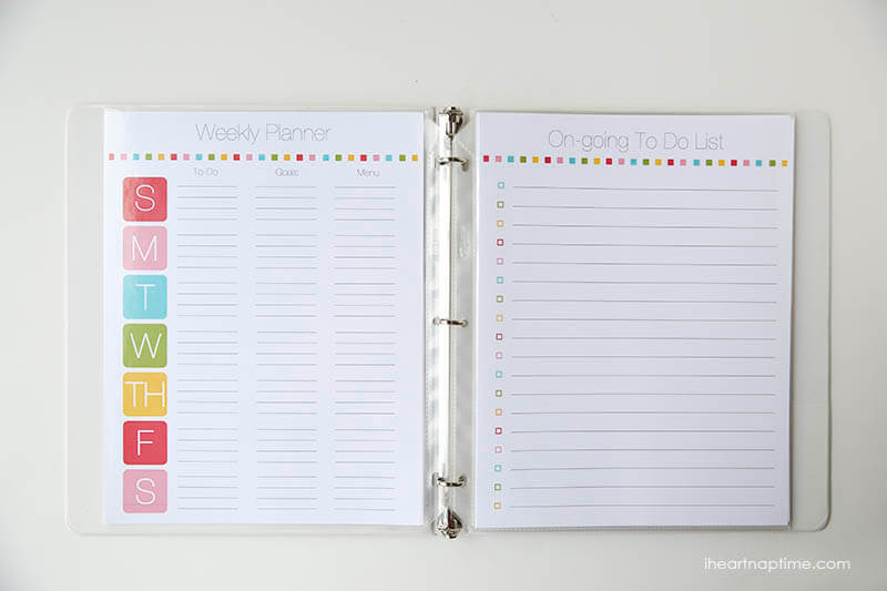 2014 Free Organization Family Binder Printable