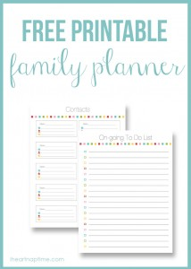 Family planner on I Heart Nap Time