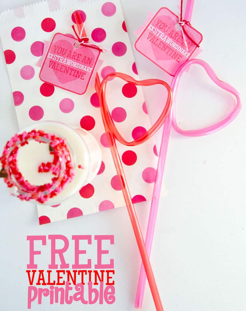 You Are An ExSTRAWordinary Valentine Free Printable