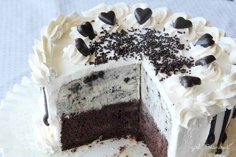 Ice Cream Cake at www.thegirlinspired.com
