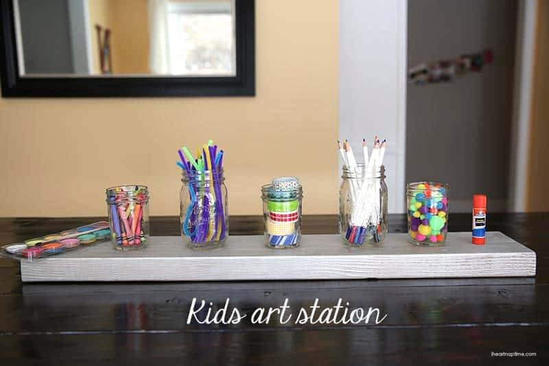 Kids craft and art station