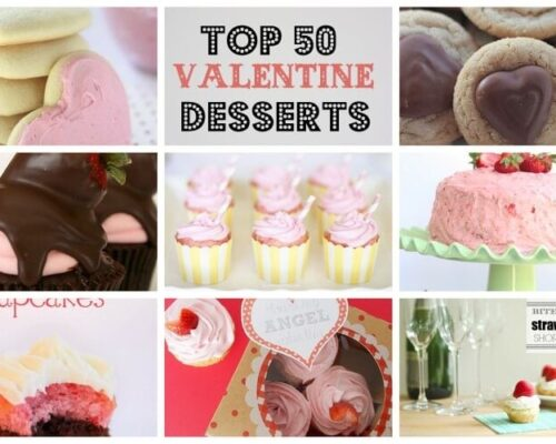 top 50 valentine desserts collage