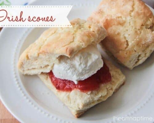 irish scones on plate
