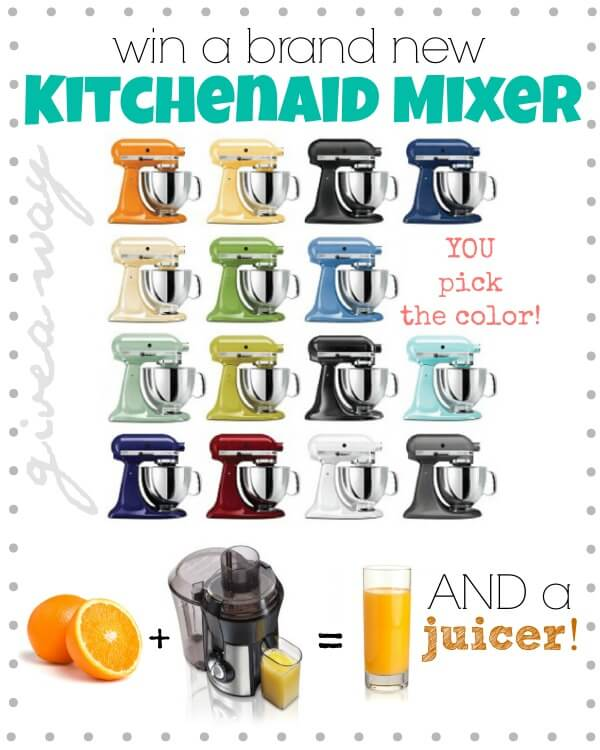 New Kitchen Aid Giveaway I Heart Nap Time