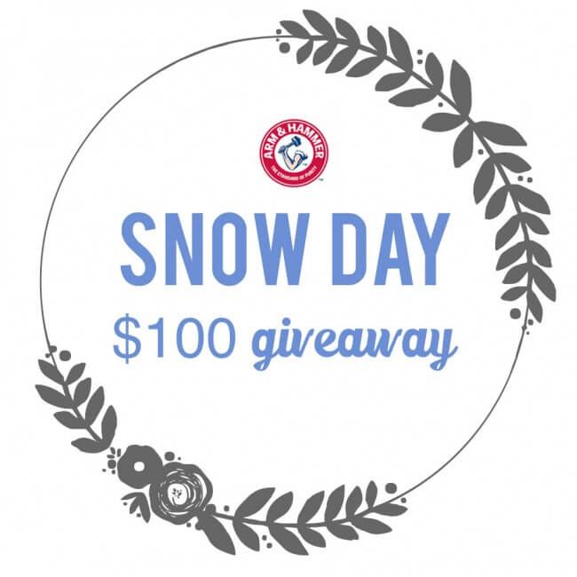Snow day $100 giveaway from Arm and Hammer