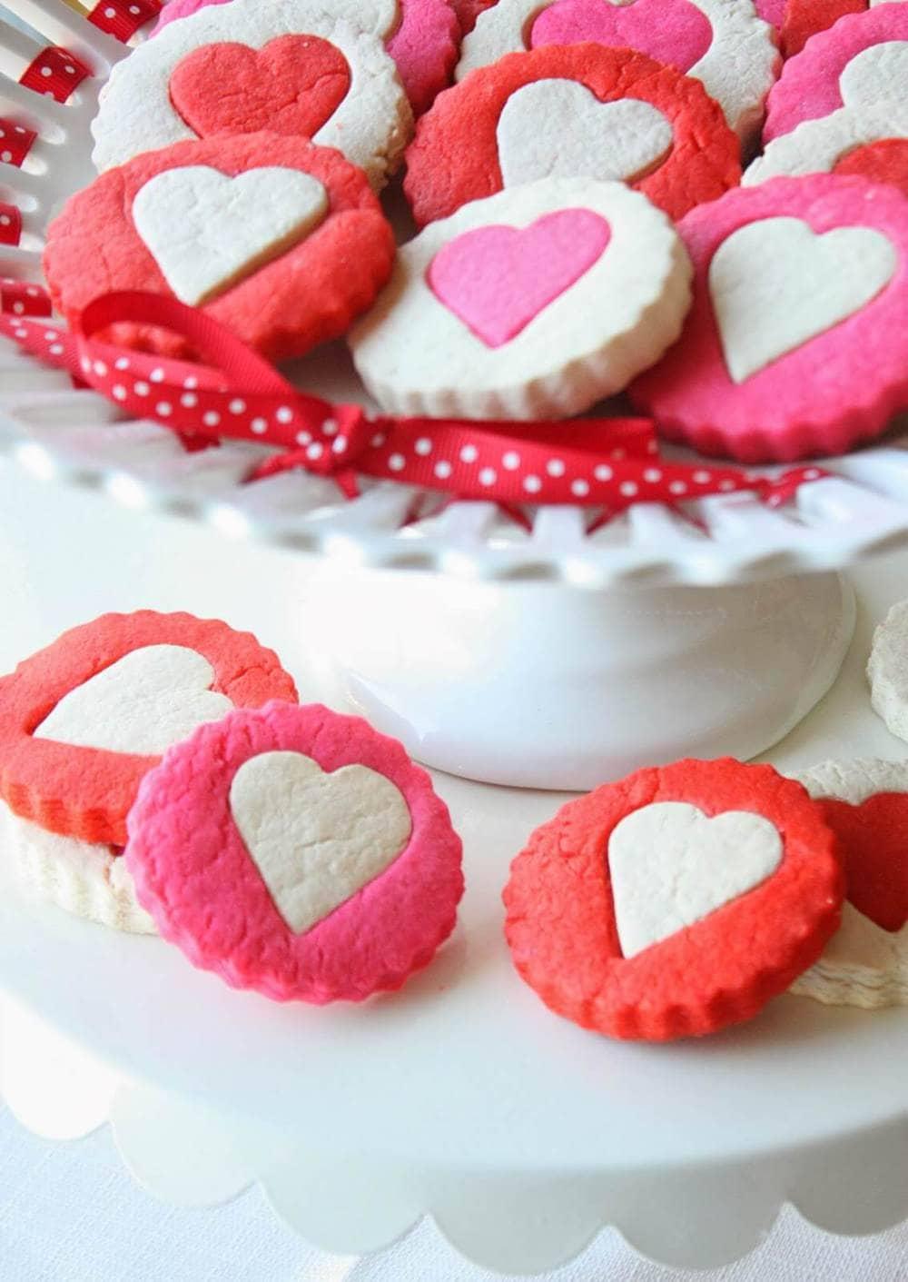two tone heart cookies