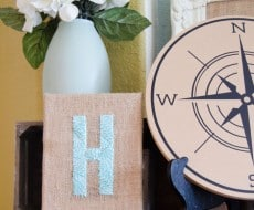 Burlap Monogram Canvas by LIndi Haws of Love The Day for I Heart Naptime