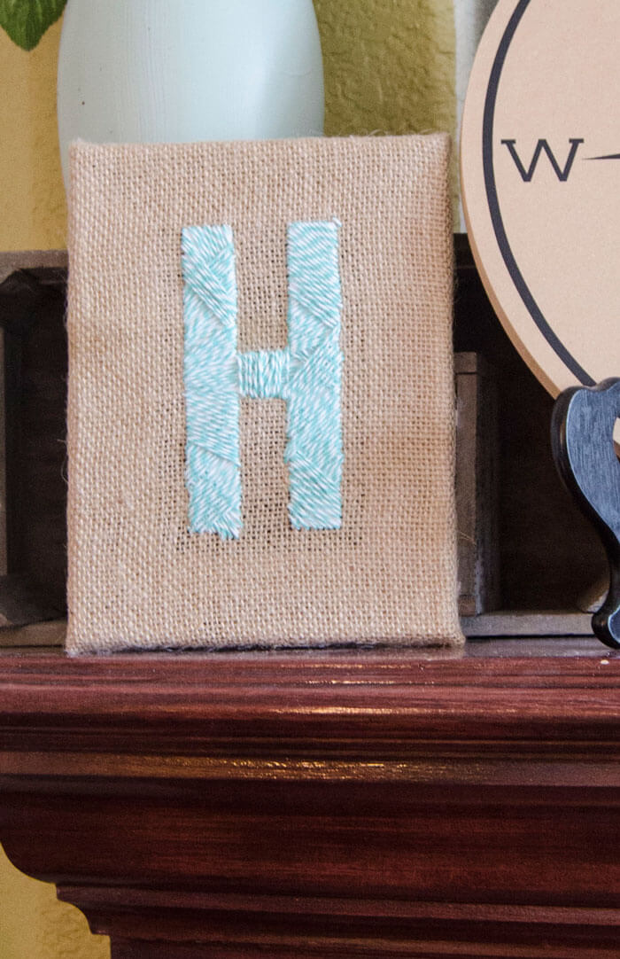 Burlap Monogram Canvas Tutorial