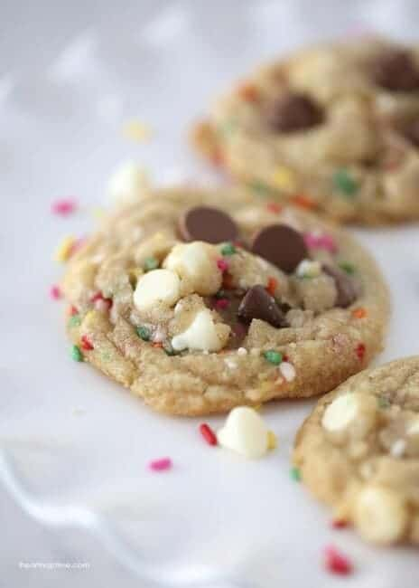 Chocolate chip and sprinkle cookies