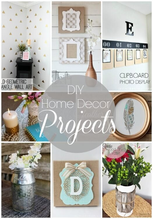 20 diy home decor projects link party features i heart for Easy diy home decorations