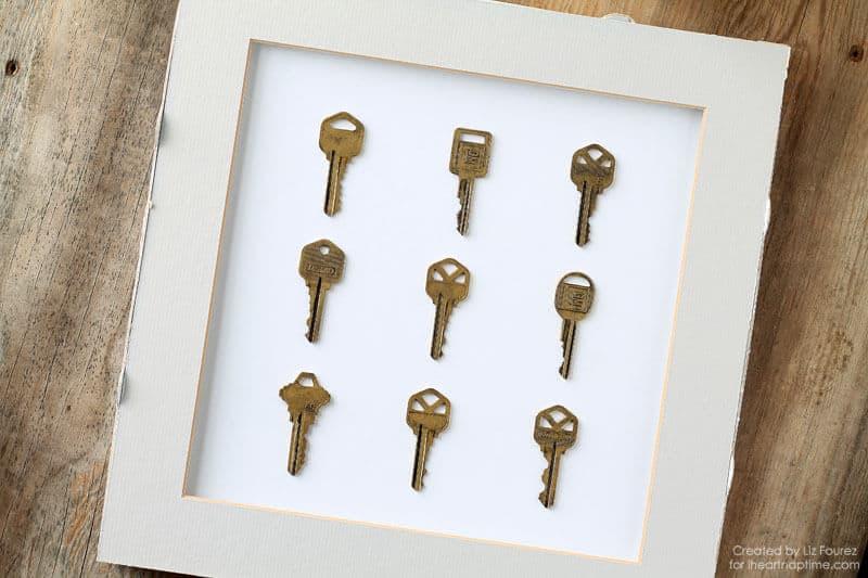 Luxury Framed Key Specimen Art