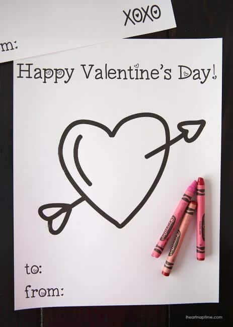 Free printable valentine coloring page
