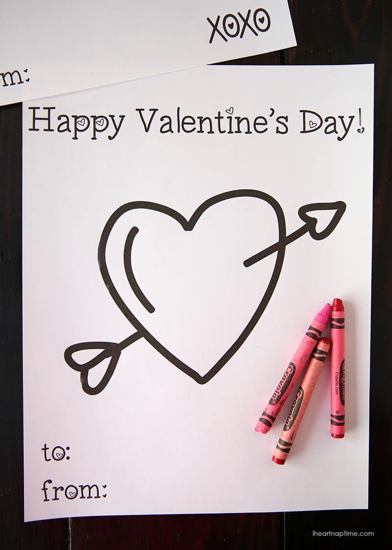 Free Valentine coloring pages for
