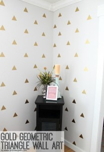 Gold-Geometric-Triangle-Wall-Art
