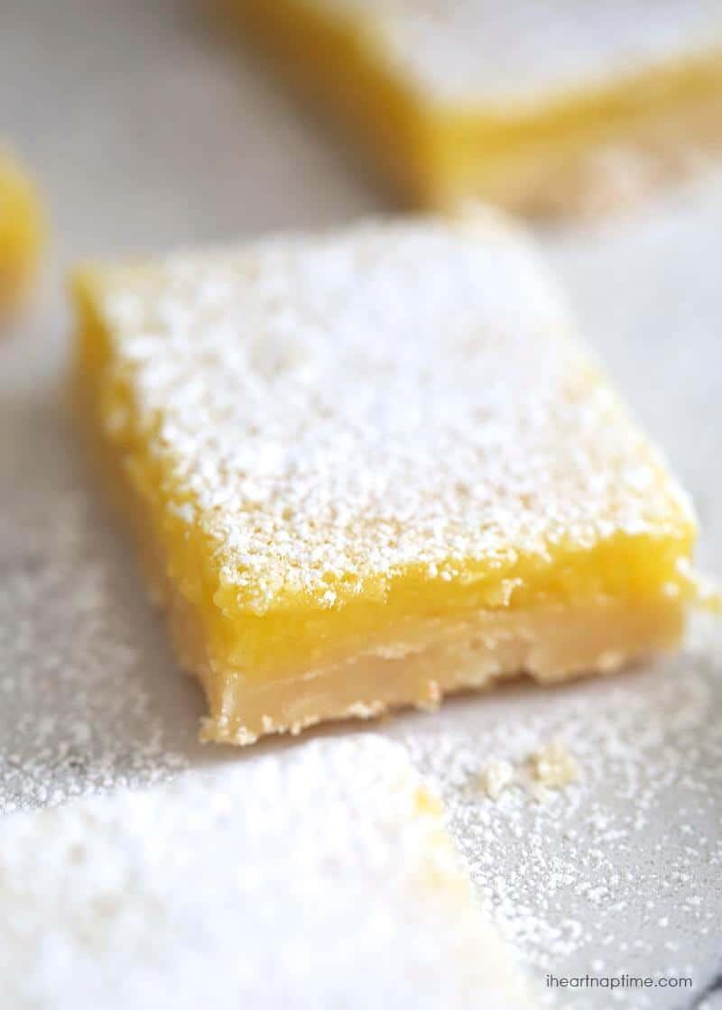 Lemon bars recipe on I Heart Nap Time