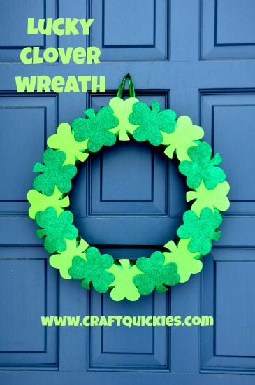 Lucky-Clover-Wreath-from-Craft-Quickies
