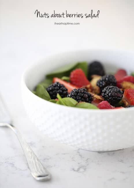 Nuts about berries salad recipe on I Heart Nap Time