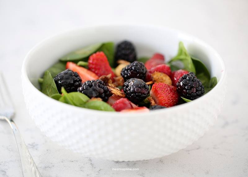 Nuts about berries salad on iheartnaptime.com -a spin off from Zupas famous salad. Delicious, healthy and easy to make!