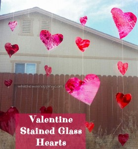 Stained Glass Heart Garland