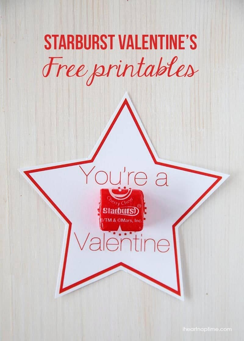love these starburst valentines on iheartnaptimecom theres 2 different free downloads - Valentines Pictures Free