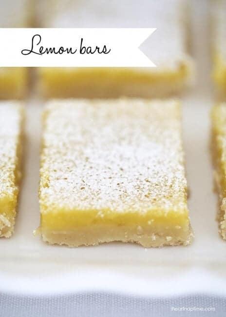 The best lemon bars recipe on I Heart Nap Time
