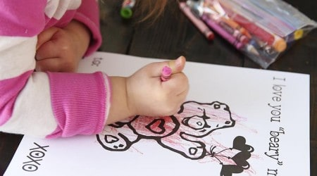 Free Valentine coloring pages for kids