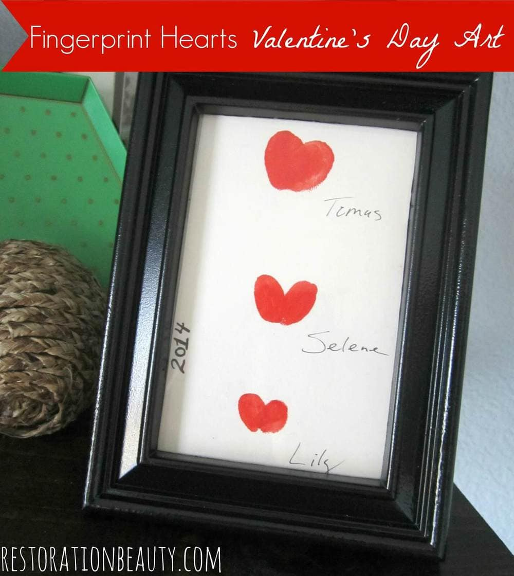 diy valentine's day art