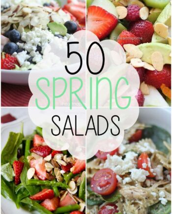 50 spring salads collage