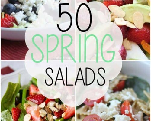 50 spring salads collage