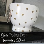 gold polka dot jewelry bowl using sharpie