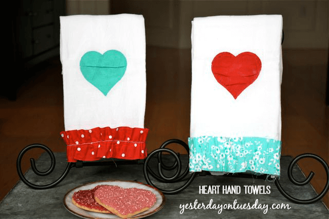 heart hand towels