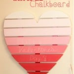 heart shaped chalkboard