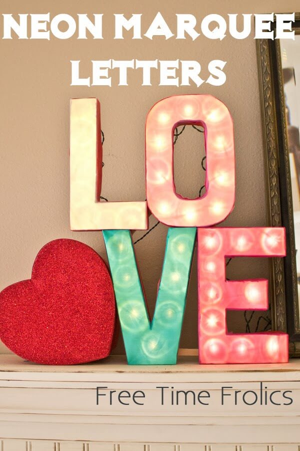 love letters neon marquee