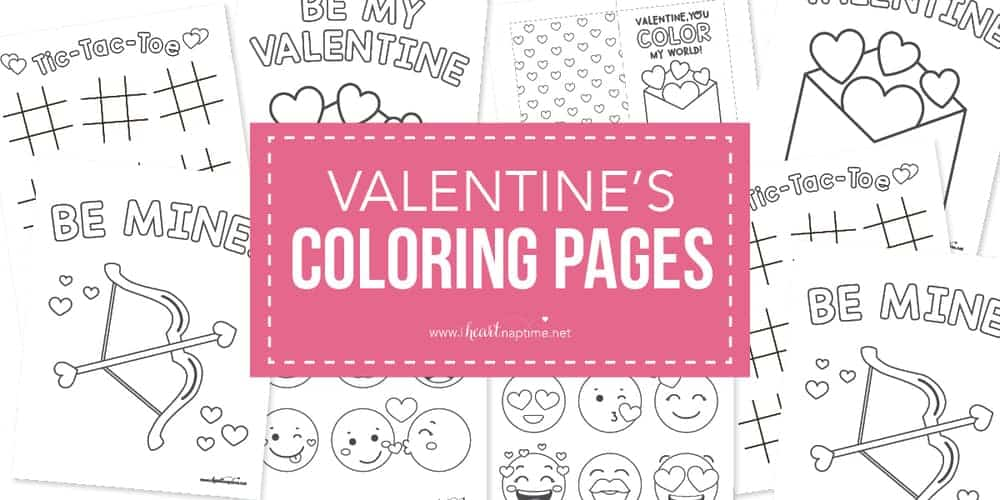 FREE Valentine Coloring Pages for Kids - I Heart Naptime